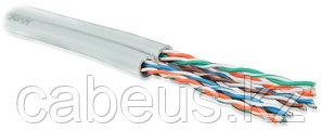 Hyperline UUTP4X2-C5E-S24-IN-PVC-GY-500 (UTP4x2-C5E-SOLID-INDOOR-GY-500) (500 м) Кабель витая пара U/UTP,
