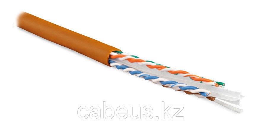 Hyperline UUTP4-C6-S23-IN-LSZH-OR-100 (100 м) Кабель витая пара U/UTP, категория 6, 4 пары (23 AWG),