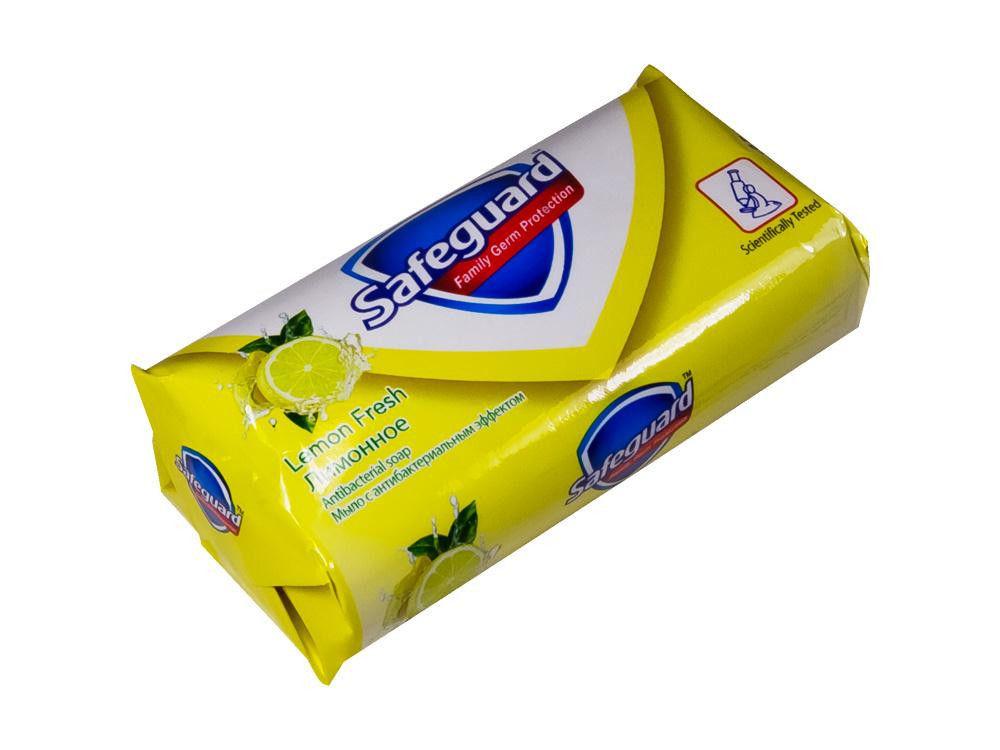 Мыло твердое Safeguard Лимонное с антибактериальным эффектом 90г