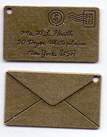 Подвеска Письмо с надписью