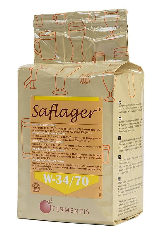 Дрожжи пивные сухие Saflager W - 34/70 (500 гр.) - низового брожения