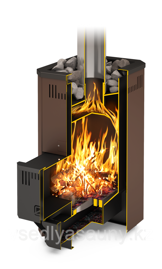 Дровянная банная печь-каменка Тайгинка-16т.Теплодар. - фото 3