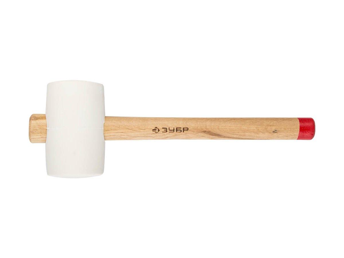 """(20511-340_z01) Киянка ЗУБР  """"МАСТЕР"""" резиновая белая, с деревянной рукояткой, 0,34 кг"""