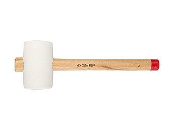 """(20511-450_z01) Киянка ЗУБР  """"МАСТЕР"""" резиновая белая, с деревянной рукояткой, 0,45 кг"""
