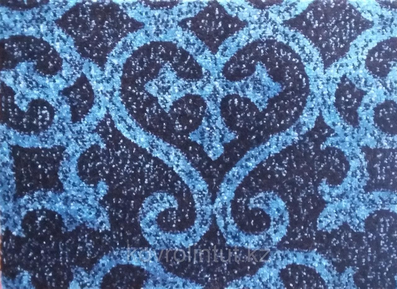 Ковролин (ковролан) FRISE KOLIBRI Чёрный с изурудн. орнаментом 4,0м опт/розн