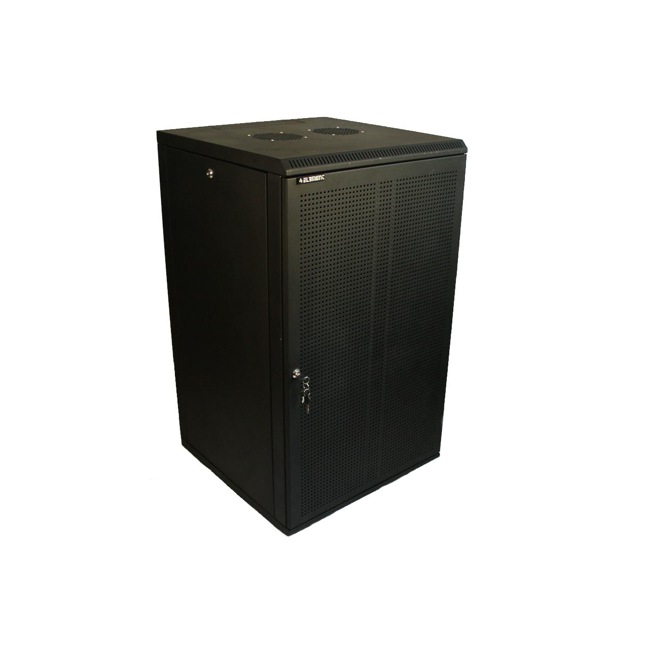 ELEMENT Шкаф напольный 24U, 600*600*1200 передняя дверь перфорированная