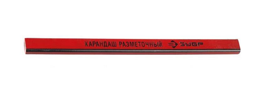 (4-06305-18) Карандаш ЗУБР разметочный графитный, 180мм, 1шт