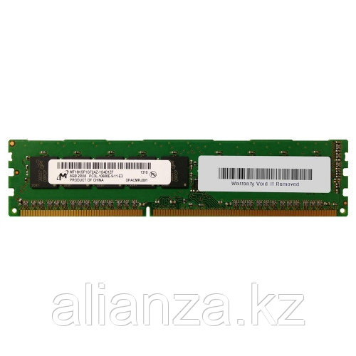 8GB, PC3L-10600E-9, Dual-Rank Dual In-Line Memory Module (DIMM) 664696-001