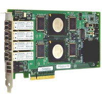 Qlogic 4Gbps quad-port Fibre Channel-to-x8 PCI Express adapter, multi-mode optic QLE2464-CK