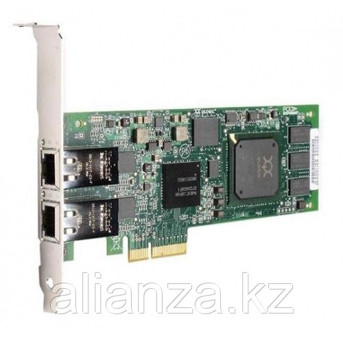 Qlogic Dual-port 1GbE iSCSI / Network-to-x4 PCI Express adapter, copper QLE4062C-CK
