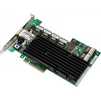 LSI 16-Port Int, 6Gb/s SAS, Pcle 2.0 8X HBA; RAID0/1/10/5/6; 512M; 4P Out 9260-16I
