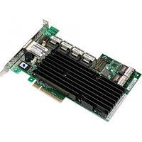 LSI 24-Port Int, 6Gb/s SAS, Pcle 3.0 8X HBA; RAID0/1/10/5/6; 512M; 4P Out 9280-24I4E