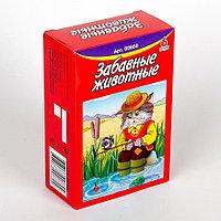 Пластмассовые кубики-картинки «Забавные животные», 6 штук