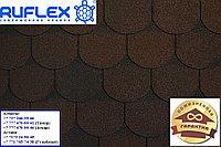 Гибкая черепица (кровля) РУФЛЕКС, СБС модифицированная, Гарантия 35 лет, Орнами Темный Шоколад, фото 1
