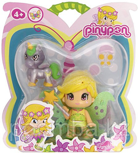 Кукла Пинипон волшебница зеленая фея и единорог