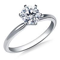 Сертификат GIA 0,26Сt I/VS2 EX Платиновое кольцо с бриллиантом 950 пробы, фото 1