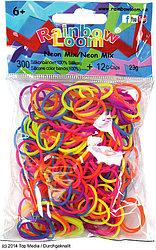 LOOM 1230 Резиночки для плетения браслетов, неоновый микс