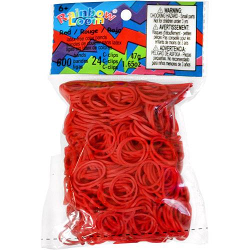 LOOM 5073 Резиночки для плетения браслетов, красные