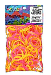 """LOOM 5295 Резиночки для плетения браслетов, """"Двухцветные"""" желто-розовые"""
