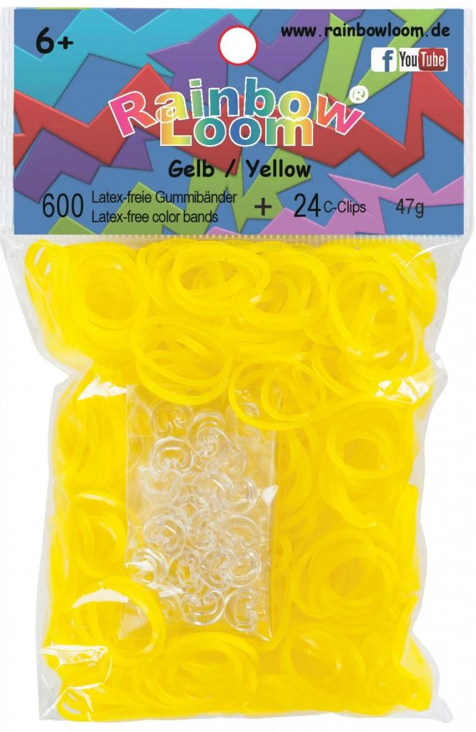 LOOM 5363 Резиночки для плетения браслетов, желтые
