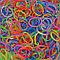 """LOOM 5639 Резиночки для плетения браслетов, """"Гелевые"""" микс, фото 2"""