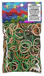 LOOM 5622 Резиночки для плетения браслетов, камуфляж