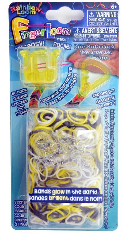 """LOOM Finger Loom Набор для плетения браслетов из резинок """"Фингер Лум"""", желтые"""