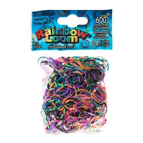 LOOM 5998 Комплект резиночек для пелетения Tie-Dye, Радужный микс