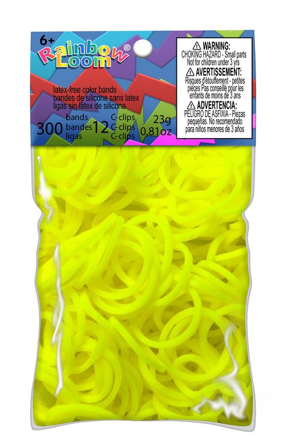 LOOM 5844 Резиночки для плетения браслетов, неоновый желтый