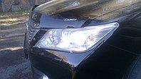 Защита фар Toyota Camry 50 2011-2014 прозрачная OEM с логотипом