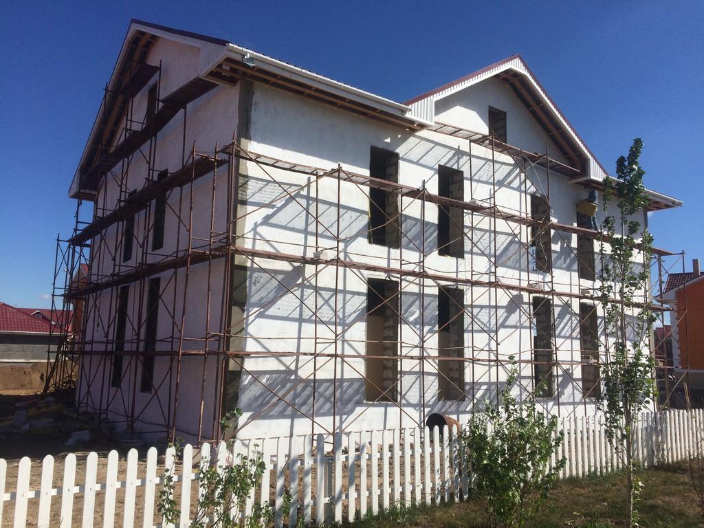 Утепеление фасада теплоотражающим покрытием Тепломет-Фасад, г. Астана, Garden Village