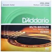 Струны для акустической гитары  Daddario EZ 920