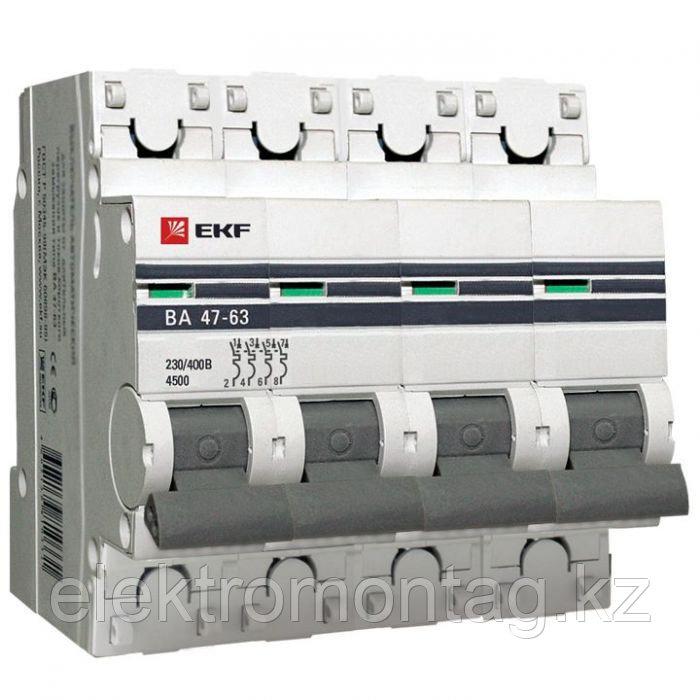 ВА 47-63, 4P 20А (C) EKF PROxima