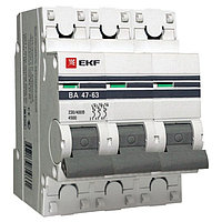 ВА 47-63, 3P 20А (В) EKF PROxima