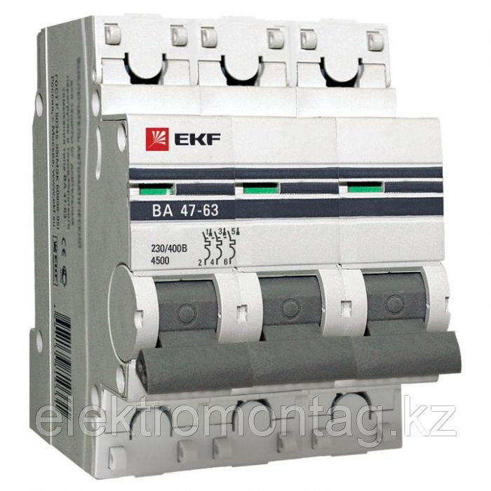 ВА 47-63, 3P 40А (В) EKF PROxima