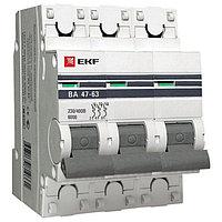 ВА 47-63 6кА, 3P 63А (C) EKF PROxima