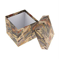 "Коробка подарочная ""Ретро крафт"" 22,5 × 22,5 × 22,5 см;"