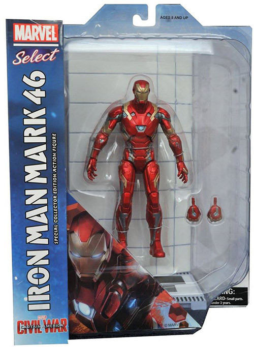 "Diamond Marvel Select ""Civil war"" Iron Man, Железный Человек"