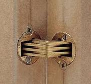Шарнир для толщины 14 -19 мм латунь матов. ZYSA, фото 1