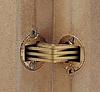 Шарнир для толщины 24-32 мм, латунь, матовая . ZYSA