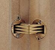 Шарнир для толщины 24-32 мм, латунь, матовая . ZYSA, фото 1