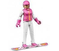 BRUDER Фигурка сноубордистки с аксессуарами, фото 1