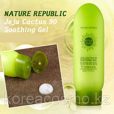 Гель на основе экстракта кактуса Nature Republic Jeju Cactus 90 Soothing Gel