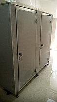 Туалетные перегородки в алюминиевом профиле, фото 3