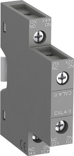 1SBN010120R1011 Контакт CAL4-11 1НО, 1НЗ боковой для контакторов AF09-AF38 и NF