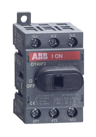 1SCA104902R1001 Рубильник OT40F3 40А 3х-полюсный (с резерв. ручкой)