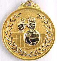 """Медаль рельефная """"ВОЛЕЙБОЛ"""" (золото)"""