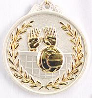 """Медаль рельефная """"ВОЛЕЙБОЛ"""" (серебро)"""