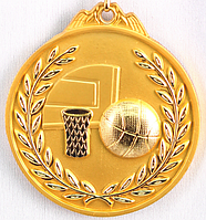 "Медаль рельефная ""БАСКЕТБОЛ"" (золото)"