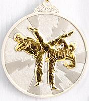 """Медаль рельефная """"ТХЭКВОНДО"""" (серебро)"""